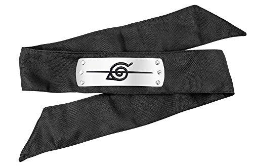 DAZCOS Japanese Anime Leaf Village Traitor Ninja Headband (Black) (Leaf Village Ninja)