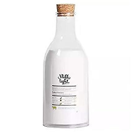 Lámpara de escritorio portátil Lámpara LED Botella de leche Mensaje de bricolaje Lámpara de sueño Carga