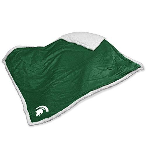 (Logo Brands NCAA Michigan State Sherpa Throw Blanket)
