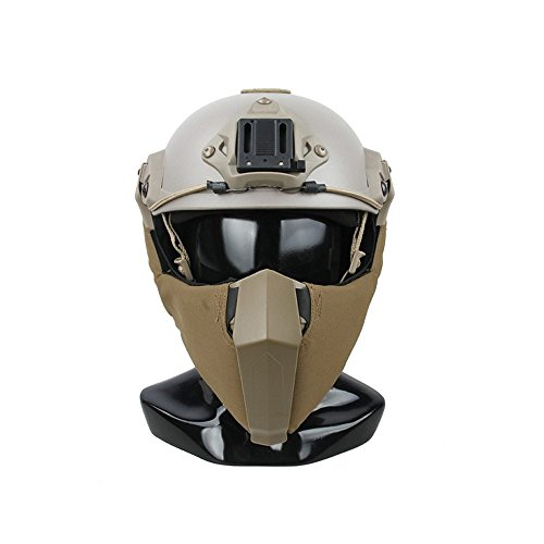 TMC Face Mask Modular Gunfighter Mandible Mask for Airsoft Paintball Milsim - Coyote Brown by TMC