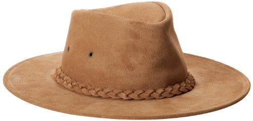 Henschel Walker Packable Crushable Cowhide Suede Braided Band Hat