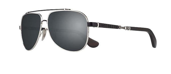 2ea92dacbe86 Chrome Hearts - Jackaddict- Sunglasses (Brushed Silver   Matte Black -  Ebony Wood   Matte Carbon Fiber