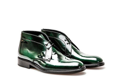 reen Polished Leather Desert Boot - Man ()