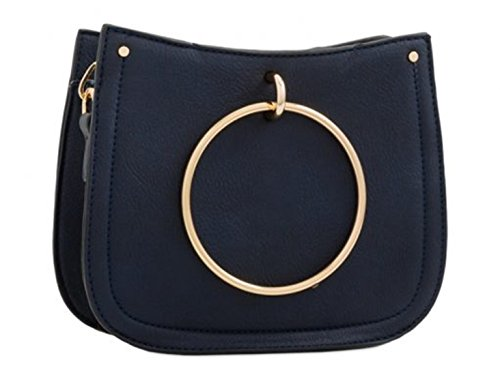 BLACK Handle Cross Navy Bags Ring LeahWard Ladies Handbags Style Women's Nice Large Bags Designer Celeb Girl's Quality Body Fashion Ring xwpYTCqw