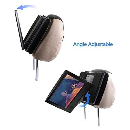 Hikig Car headrest Mount for 7 to 11 inch Swivel & Flip Style Portable DVD Player - Black by Hikig (Image #2)