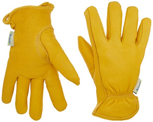 Kinco 035117090019 Women's Lined Deerskin Leather Ranch and Work Glove, Medium