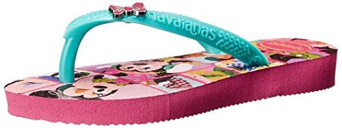 Havaianas Kids Disney Cool Flip Flops (Toddler/Little Kid), Shocking Pink/Lake Green, 29-30 BR(13, 1 M US Little Kid)