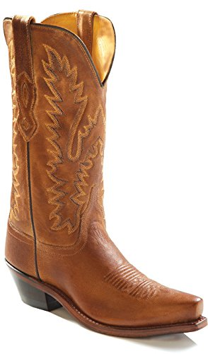 Womens Cowboy Leather Boots - Old West Boots Women's LF1529 Tan Canyon 7.5 B US