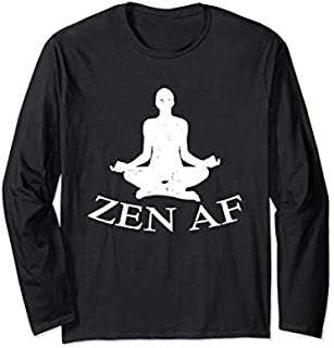 [Featured] Zen AF-Yoga Clothes-Funny Yoga Teacher Gift For Men Women Long Sleeve in ALL styles | Size S - 5XL