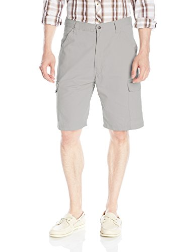 Wrangler Men's Authentics Classic Twill Cargo Short, Grey Mist, 33