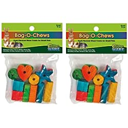 (2 Pack) Ware Manufacturing Pine Wood Bag-O-Chews Small Pet Treat, Small – 12 pieces each