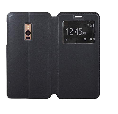 covernew window Flip Cover for oneplus 2   venom black