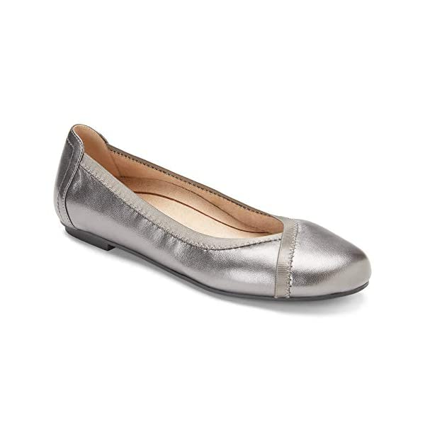 Vionic Women's Spark Caroll Ballet Flat - Ladies Dress Casual Shoes with Concealed Orthotic Arch Support