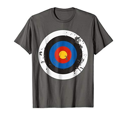 Mens Distressed Archery Target Bullseye Halloween Costume T-Shirt Medium Asphalt for $<!--$16.95-->