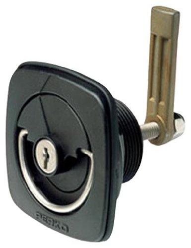 Perko 1081DP3BLK Black Straight Marine Flush Lock and Latch