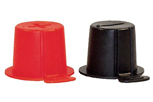 Top Post Plastic Battery Caps- One Red and One Black per set- Protects Terminals (Battery Cover Set)