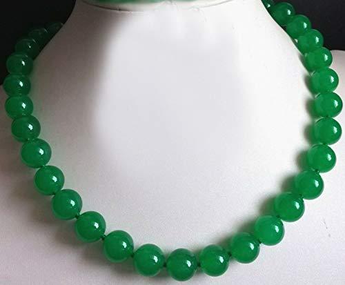 FidgetGear 6-14mm Natural Green Jade Gemstone Round Beads Necklace Bracelet Earrings AAA+ 6mm Necklace