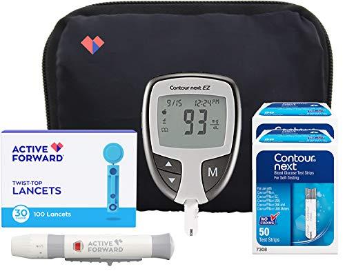 Contour Next EZ Diabetes Testing Kit   Contour Next EZ Blood Glucose Meter, 100 Contour Next Blood Glucose Test Strips…