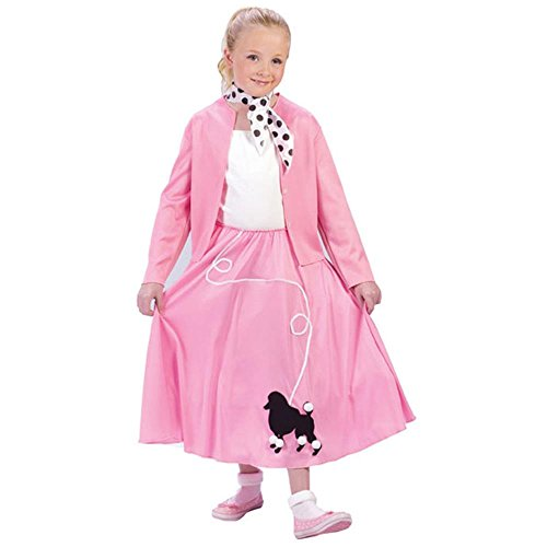 Grease Poodle Skirt and Sweater Child Costume (Medium (Poodle Skirt Sweater)