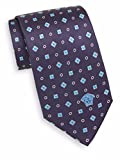 Versace Men's Silk Diamond & Square Foulard Tie, OS (Blue)