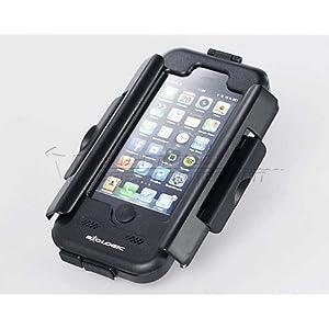 Moto Coque rigide pour iPhone 5 anti-éclaboussures. Noir. Pour GPS Support.