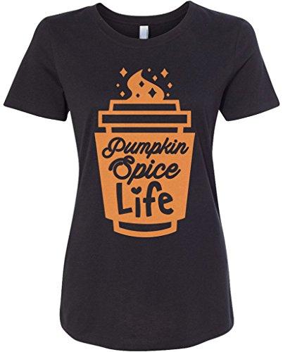 Threadrock Women's Pumpkin Spice Life T-shirt M Black]()