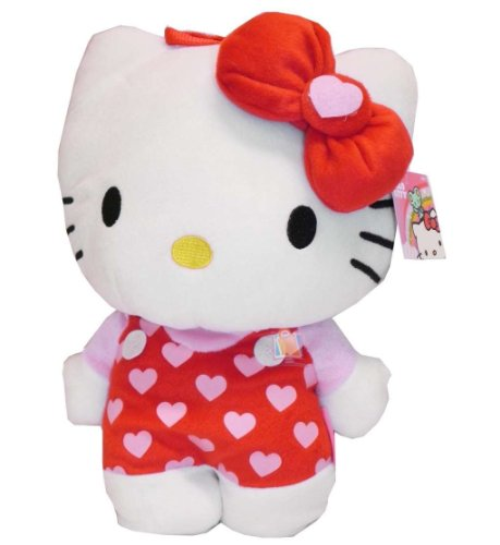Plush Backpack - Hello Kitty - Red Heart Soft Doll Toys 671362