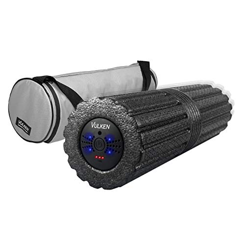 "Vulken 4 Speed High Intensity Extra Long17"" Vibrating Foam Roller Deep Tissue Massager for Muscle Recovery"