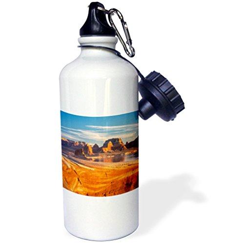 3dRose wb_206828_1 USA, Utah. Weathering Pit Ridge at Lake Powell. - Sports Water Bottle, 21oz by 3dRose