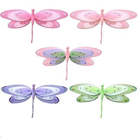 Amazon.com: Libélula decoraciones Triple capas de malla de ...