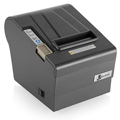 Thermal Receipt Printer by Affordable – POS Receipt Printer USB – Square Compatible – with Auto Cutter 80mm – Support Cash Drawer Interface