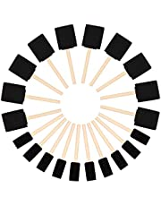 Kurtzy Schuimen Verf Kwasten (20pak) - Twee Maten – Houten Handvat Spons kwasten Set – Verf Gereedschap Voor Acryl, Olie, Stain- en Waterverf – Kunst en Hobby Materiaal Voor Volwassenen