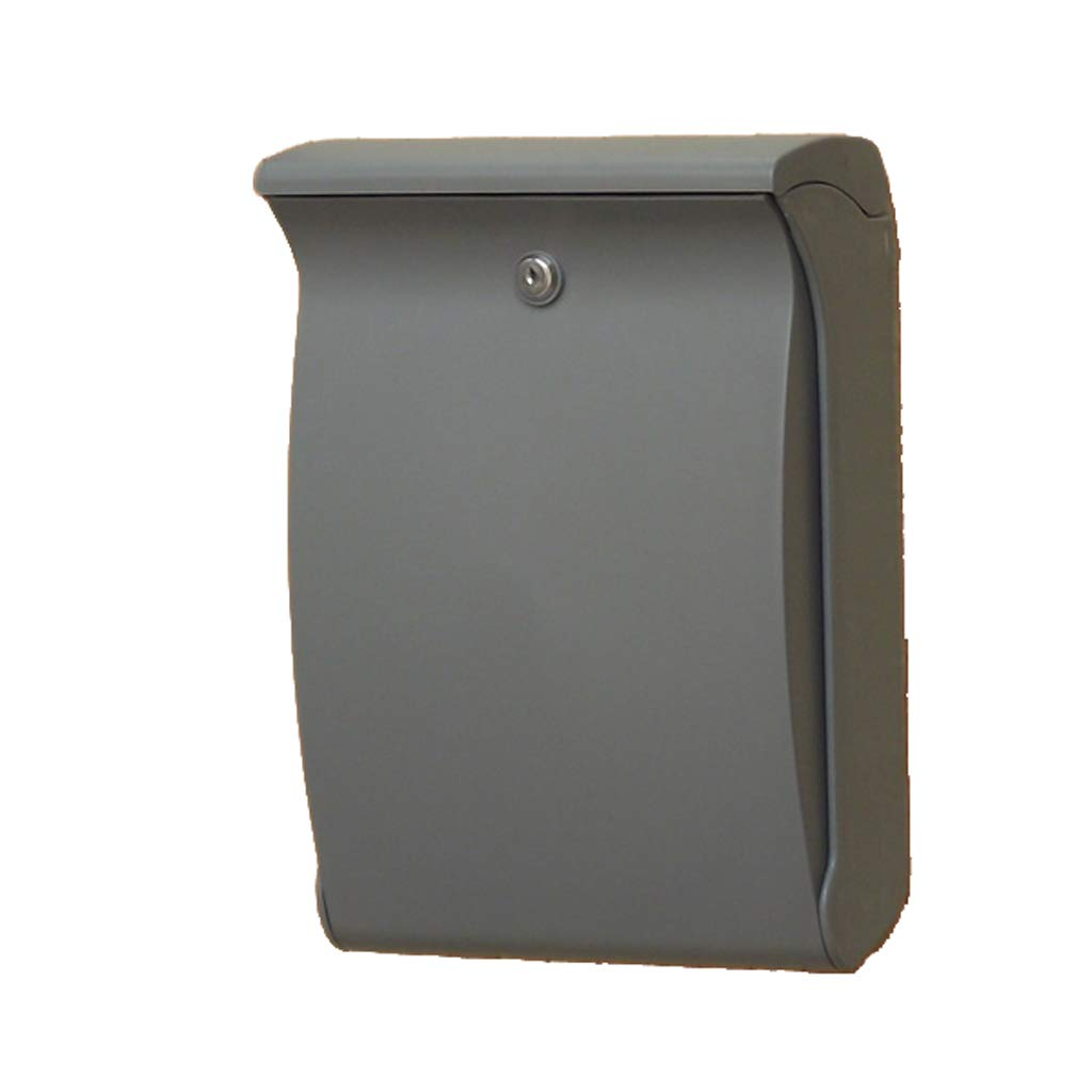 梁友 ウォールマウントメールボックス メールボックスのABSプラスチック、屋外の抗UV、耐久性のある、非退色のホームレターボックス、別荘に適し、パティオ、3色利用可能 (色 : グレイ ぐれい)  グレイ ぐれい B07RSM4CQT