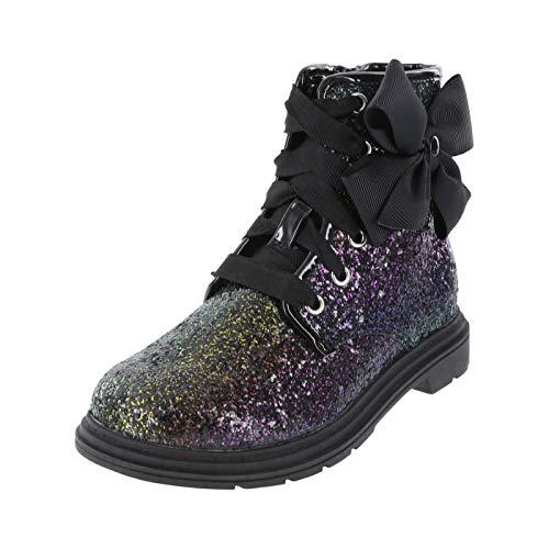 Nickelodeon Multi Glitter Girls' Toddler JoJo Moto Boot 12 Regular -