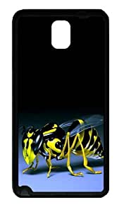 3D Bee Custom Designer Samsung Galaxy Note 3 / Note III/ N9000 - TPU - Black