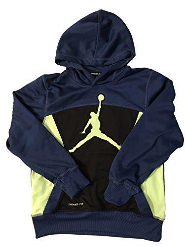 Jordan Boys Therma Fit Hoodie Blue/Black Medium
