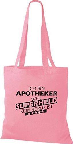 Shirtstown Sacchetto in stoffa Sono Farmacista, perché Super eroe niente Occupazione è - Rosa, 38 cm x 42 cm