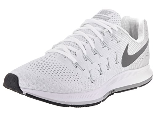 Nike Herren Air Zoom Pegasus 33 Weiß / Pure Platinum / Schwarz / Cool Grey