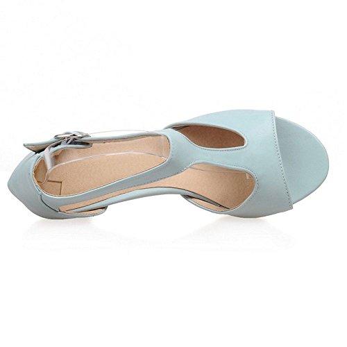Femmes Sandales Elegant JOJONUNU Blue SM Peep Toe BqwqOxdI4