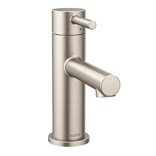 - Moen 6190BN Align One-Handle Modern Bathroom Faucet with Drain Assembly and Optional Deckplate, 1 count, Brushed Nickel