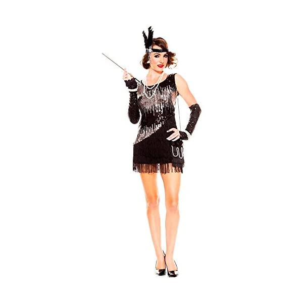 Women\'s Plus Size Fearless Flapper Costume (Music Legs)