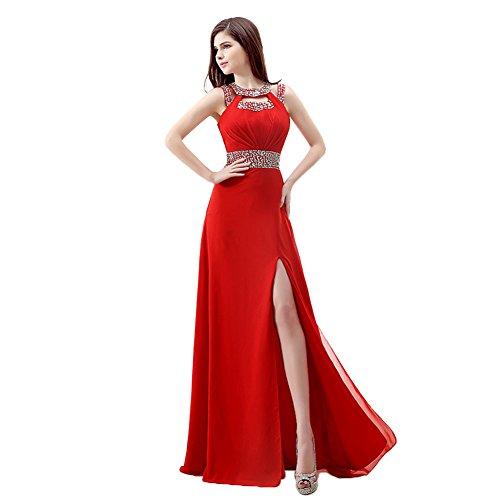 Ikerenwedding - Vestido - corte imperio - para mujer Rosso