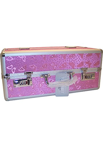 Lockable Vibrator Case Super-sized Large - Pink