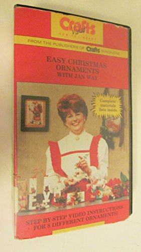 Easy Christmas Ornaments with Jan Way [VHS Tape] 1987