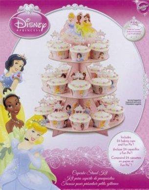 WILTON Disney Princess Cupcake 3-Tier Stand Kit - Holds 24 Cupcakes! (Stand Cake Disney)