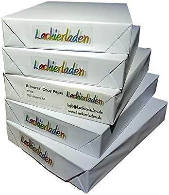 High White 80 - Folios de papel para fotocopiar o imprimir (2500 ...