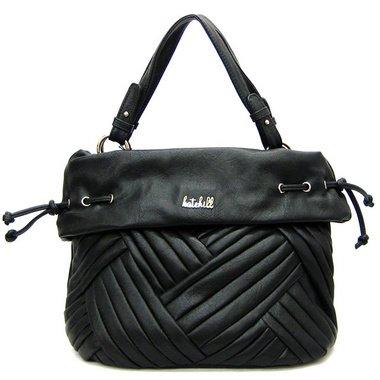 Kate Hill Stripe Hobo/Handbag – Black, Bags Central