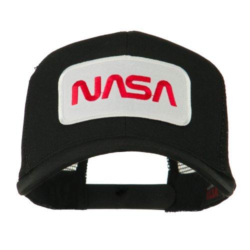 NASA Logo Embroidered Patched Mesh Back Cap - Black OSFM