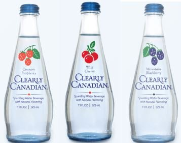 - Clearly Canadian Sparkling Flavored Water (6 Pack, including 2 of each) Country Raspberry, Wild Cherry, Mountain Blackberry)