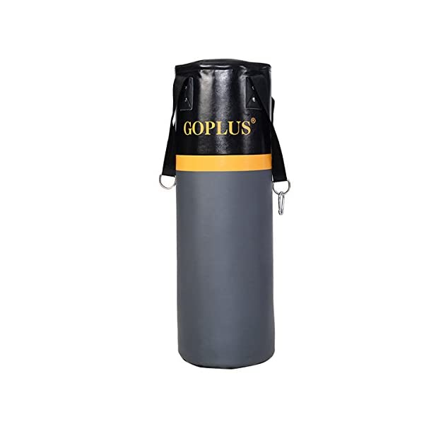 GOPLUS Punching Bag w/Stand 2 in 1 Hanger Wall Bracket Hanging Boxing Frame with Heavy Bag & Speed Bag 5
